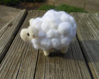 Needle Felted Wool Sheep