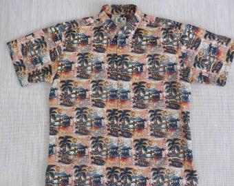 Hawaiian Shirt KAHALA John Severson COLLECTION Vintage Surfer Aloha Shirt Jamaican Vibe 100% Cotton Mens Camp - L - Oahu Lew's Shirt Shack