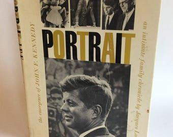 Vintage Book, Portrait, John F Kennedy