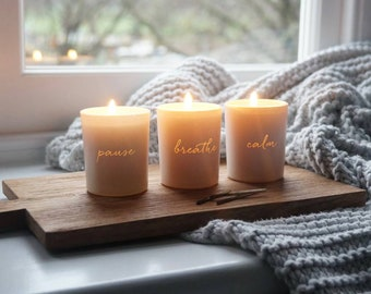 Unplugged Votive Scented Candle Set, Scented candle set, Relaxation candles, Votives, Scented votives, Gifts for home, Gifts for her,