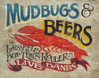 Mudbugs & Beer   Print