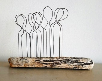 Driftwood Wire Sculpture 'Assembly'
