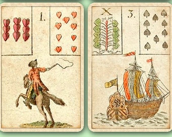 Game of Hope  ~Mini~  Lenormand Cards, c.1799