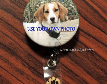 PERSONAL PIC Badge Reel, Your Photo, Custom order pic, Kids, GKids, Sister/Brother, Husband/Wife, GParents, Pets, Relatives, Special Friend