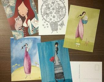 Postcards (Package B) Unique Art Postcards