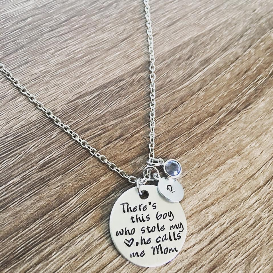 Mother and son necklace / There\'s this boy who stole my