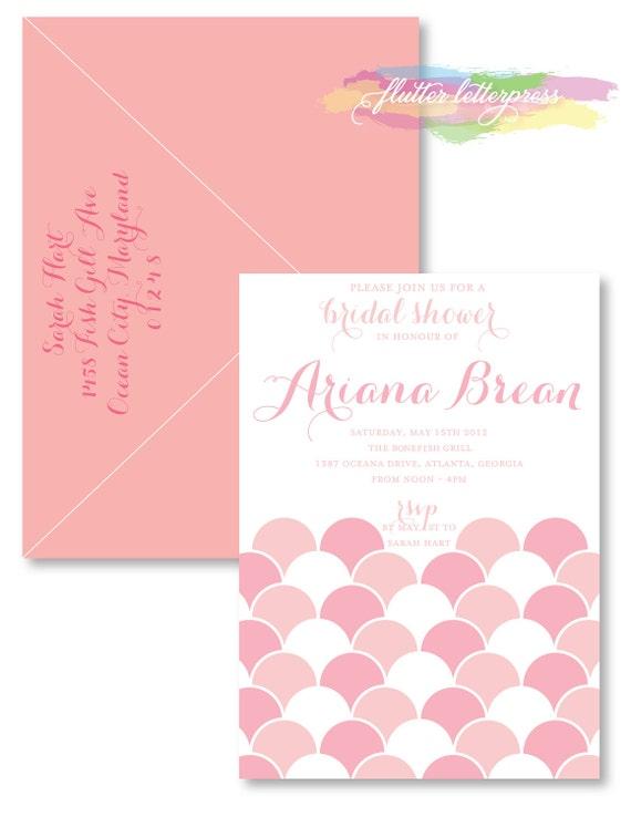 Letterpress bridal shower invitation filmwisefo Gallery