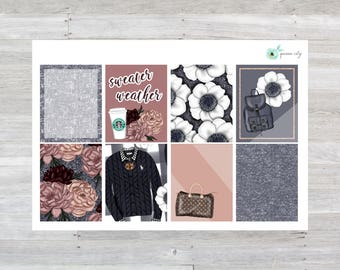 Sweater Weather Full Box Planner Stickers
