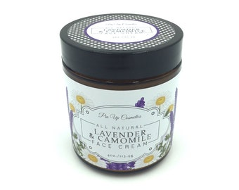 Pin Up Cosmetics Lavender & Chamomile Face Cream/Lightweight Hydrating for All Skin Types
