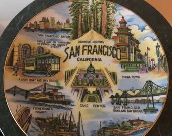 Vintage San Francisco tourist plate
