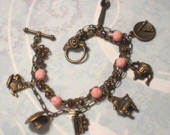 Game of Scones -  a tea dueling-themed steampunk/fantasy Victorian convertable bracelet/necklace
