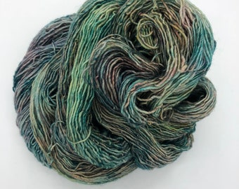 Stargazy Pie 4ply hand dyed merino singles sock yarn 100g