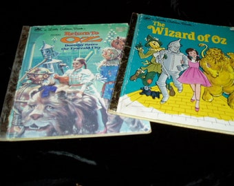 Two Little Golden Books WIZARD OF OZ