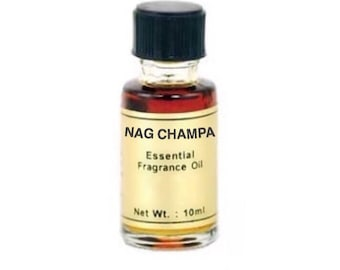 Nag Champa Oil - 10ml, Essential fragrance oil, Candle dressing, Aromatherapy, Scent magick, Woodsy smell, Annointing oil, Calming scent