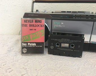 SEX PISTOLS, Never Mind The Bullocks, vintage cassette tape, music cassette