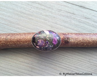 Imperial purple jasper ring