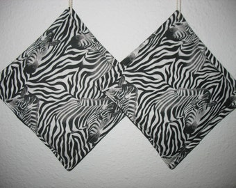 Zebra Potholders set of 2