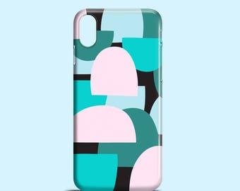 Green hills phone case / geometric phone case / iPhone X / iPhone 8 / iPhone 7, iPhone 7 Plus, iPhone Se, iPhone 6S, iPhone 6, iPhone 5/5S