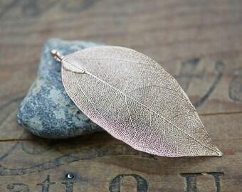 Copper Metal Leaf Pendant Unique Leaf Pendant Real Leaf (1) Copper