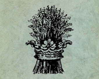 Sheaf of Wheat Circled by Crown - Antique Style Clear Stamp