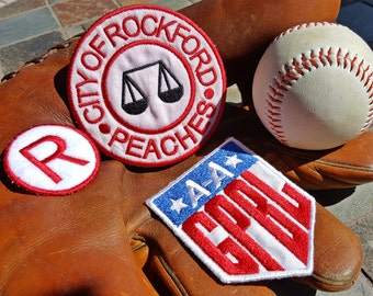 A League of Their Own Patch Set Rockford Peaches