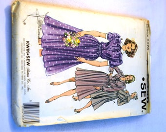 Vintage 1980s Kwik Sew 1175 loose fitting pullover dress sewing pattern