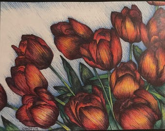 Red Tulips (print)