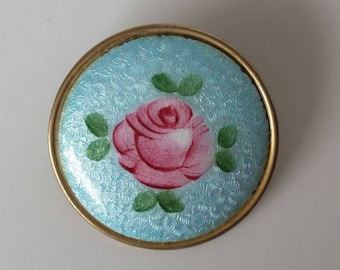 Vintage guilloche brooch pin