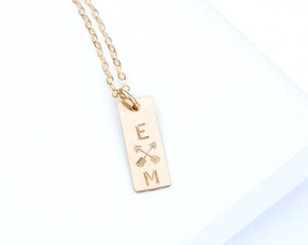 Best Friend Necklace, Sister Necklace, Silver, Rose or Gold Crossed Arrows Necklace, Friendship Necklace, Best Friend Gift