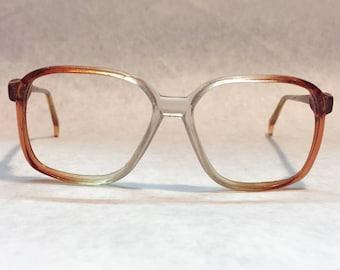 Vintage glasses Clear glasses Transparent glasses retro glasses Pink Glasses Square glasses vintage frames ombre glasses oversized glasses