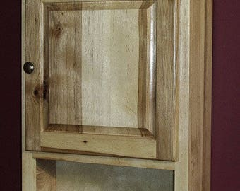 Hickory Wood Toilet Cabinet