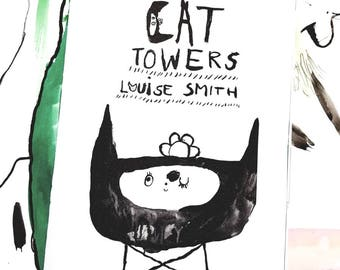 CAT TOWERS ZINE - A5 Booklet Zine - Saddle Stitched Binding