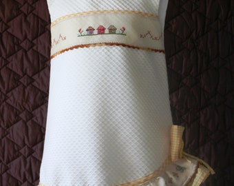 Embroidered Girl dress in cross stitch