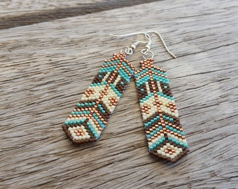 "Earrings woven beaded ""the story"