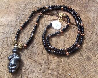 "24"" Hematite Goddess Necklace"