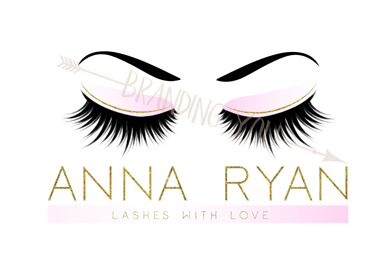 Custom logo lashes logo eyelash logo cosmetics logo gold