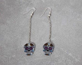 Earring dangle Mexican skull