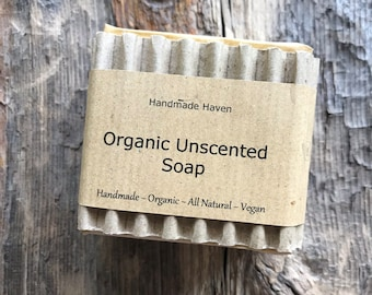 Organic Soap - Vegan - Unscented - Natural - Traditional