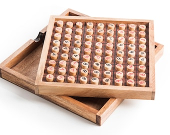 Sudoku - game, wood game, wooden sudoku, wooden game, game for one player, logic game, coffee table game,