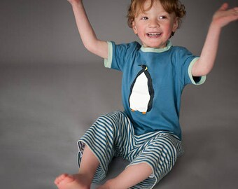 Blauer Pinguin - Kinder Pyjama