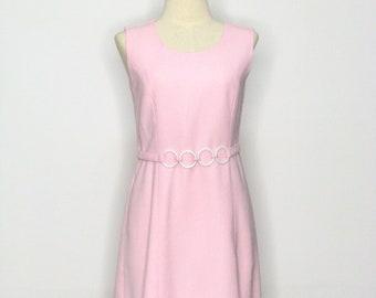 1960s Pastel Pink Disco Dress