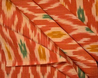 Orange Ikat Upholstery Fabric