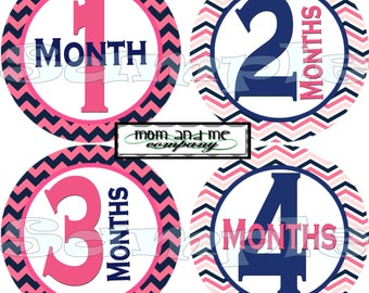Girl Baby Monthly Stickers Baby Month Stickers Baby Milestone Stickers Nautical Baby Shower Gift Baby Girl Stickers Decals infant stickers
