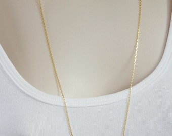 "Gold Vermeil, laser cut cable chain, finished necklace chain(Gold plated .925 sterling silver). Available in 16"",18"",20"",24"" and 30"" lenghts"