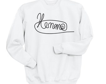 Luke Hemmings Signature Sweatshirt, 5SOS Shirt, 5 Seconds of Summer Autograph, Crew Neck Sweater, Band Shirt, Band Merch, Tumblr