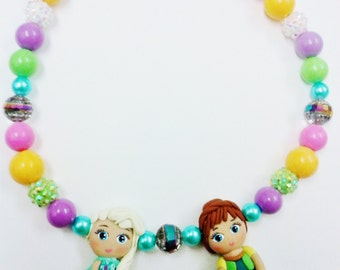 Elsa and Anna frozen fever necklace
