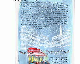 Bar Croix Rouge at Christmas:  Paris Letters, December letter about my Christmas shopping in Paris