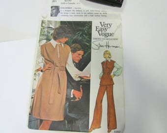 Vintage Very Easy Vogue 1083 Pattern, Stan Herman Size 10