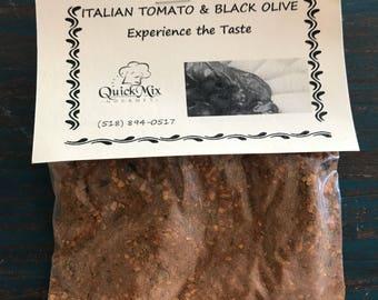 Italian tomato and black olive