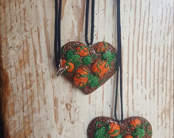Heart Pumpkin Patch Pendant